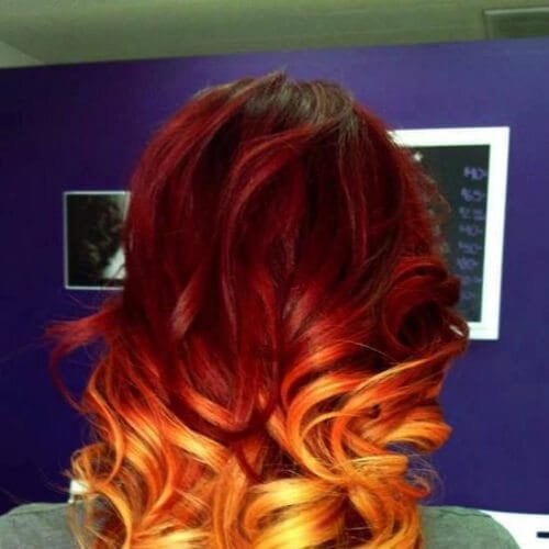 rosewood red ombre hair