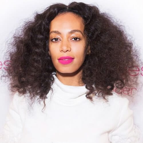 solange knowles curly hairstyles