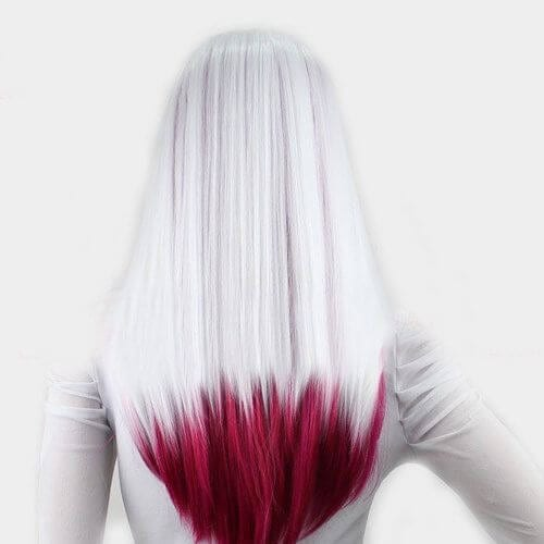 white red ombre hair