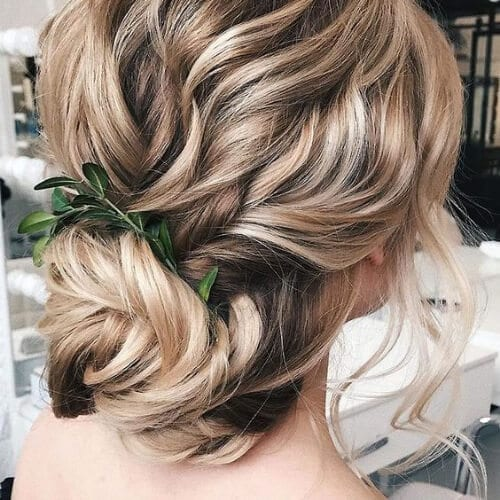 winter wedding updos for long hair