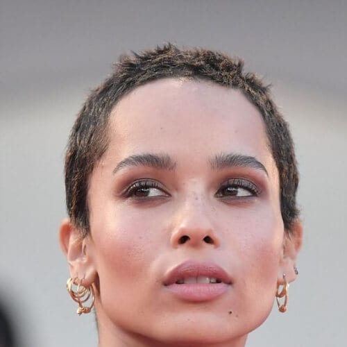 zoe kravitz 74th Venice Film Festival screening of Racer And The Jailbird pixie haircut