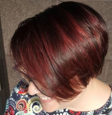 Burgundy Pixie side view