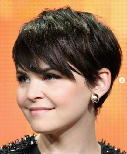 Ginnifer Goodwin with black hair