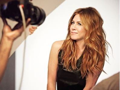 Jennifer Aniston with mike pictorial