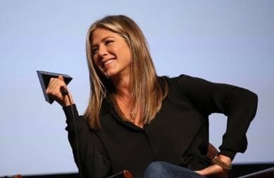 Jennifer Aniston with mike