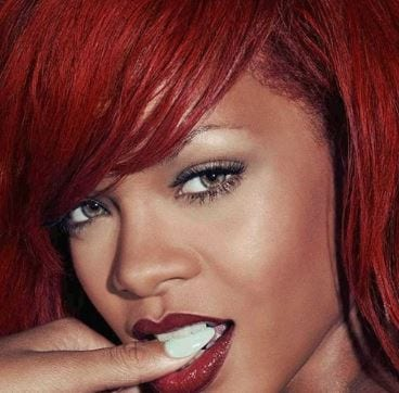 Rihanna red straight hair