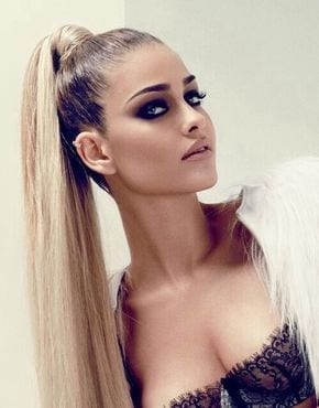 Super High Ponytail Wrapped with Hair