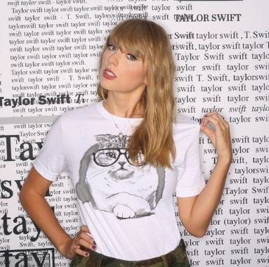 taylor swift white shirt