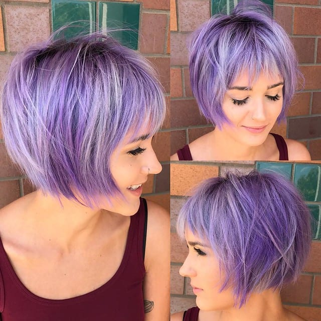 Shaggy bob hairstyles for oval faces