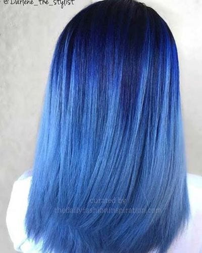 Black to Bright Blue Ombre