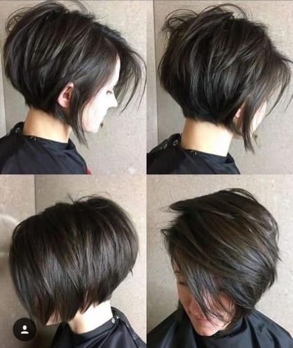 Bed Head Stacked Bob Haircut