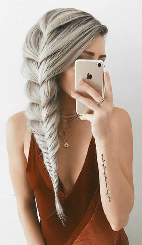 comb over silver braid hairstyles
