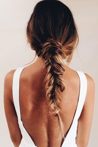 messy low braid hairstyles